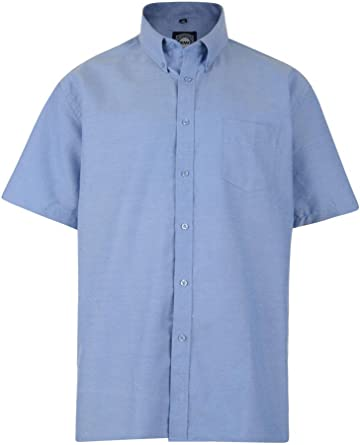 Kam Jeans para Hombre Camiseta de Manga Corta Oxford, Trabajo, Formal, Grande y Alto, King Size, 2 xl, 3 xl, 4 xl, 5 xl, 6 xl, 7 xl, 8 xl