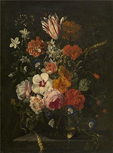 Amazon Oil Painting Flowers In A Vase 1650 By Abraham Mignon