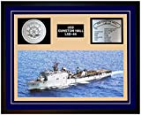 Navy Emporium USS GUNSTON HALL LSD 44 Framed Navy Ship Display Blue