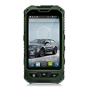 Sudroid A8 4 inches IP68 Rugged Smartphones with Android 4.2 Os and Dual Core Dual Sim (Green)