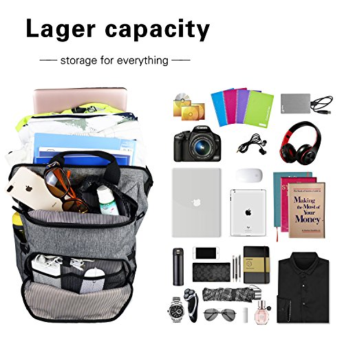 Hap Tim Laptop Backpack 15.6/14/13.3 Inch Laptop Bag Travel Backpack for Women/Men Waterproof School Computer Bag Large Capacity Bookbag for College/Travel/Business (7651US-G) by Hap Tim (Image #2)