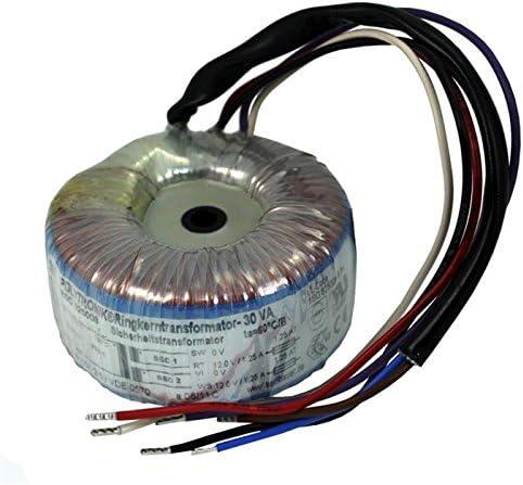 Transformador toroidal 30VA 230V -> 2x12V / 1x24V ; Sedlbauer, RSO-825008