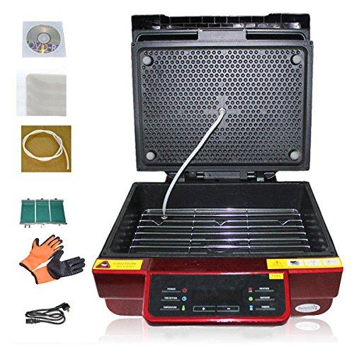 Enshey Multi-functional 3D Sublimation Heat Press Machine High Intelligent Vacuum Transfer Printing Printer Machine Heat Transfer for Phone Cases T-shirt Mug Plate Red with 3 pcs 11oz Mug Wrap by Enshey
