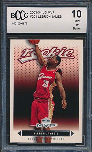 2003-04 Upper Deck Lebron James Box Set #11 ROOKIE NBA BCCG 10 Graded Card