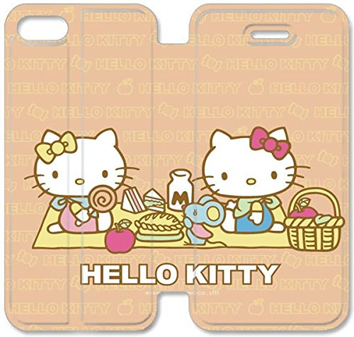 Klreng Walatina® Coque iPhone 6 6s 4,7 pouces Coque cuir Bonjour Kitty Cartoon Background Image Ipod I0M5Lx