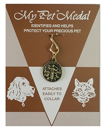 St Francis of Assisi Pet Charm Religious Medal and ID Tag -