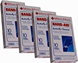 Band-Aid Butterfly Closures, Medium (1 3/4 Inch X 3/8 Inch)- 10 Closures (Pack of 4)