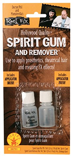Rubie's Reel FX Spirit Gum and Remover, Clear, One (Use Gum Remover)