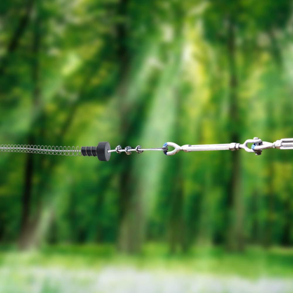 Zixar Zipline Stopper Kids Backyard Zip Line Spring Stop//Brake Kit System 5.3ft Zipline Parts for 3//16 1//4 5//16 3//8 Inches Cable