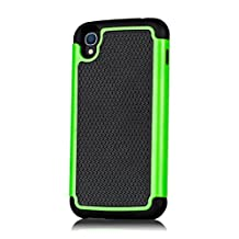 32nd Shock proof dual defender case cover for Alcatel OneTouch Idol 3 cell phone (5.5 inch version) - Green