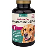 NaturVet Glucosamine DS Plus Level 2 Moderate Joint Care for Dogs, 120 ct Time Release, ChewableTablets, Made in USA