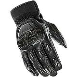Joe Rocket Speedway Men's Motorcycle Riding Gloves (Black/Black, X-Large)