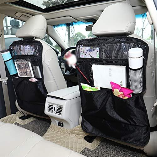 2pcs Car Storage Bag Kick Mats, Car Seat Rear Protection, Car Seat Rear Seat Storage Kit, Waterproof Car Organizer, Tablet Stand: Amazon.co.uk: Sports & Outdoors