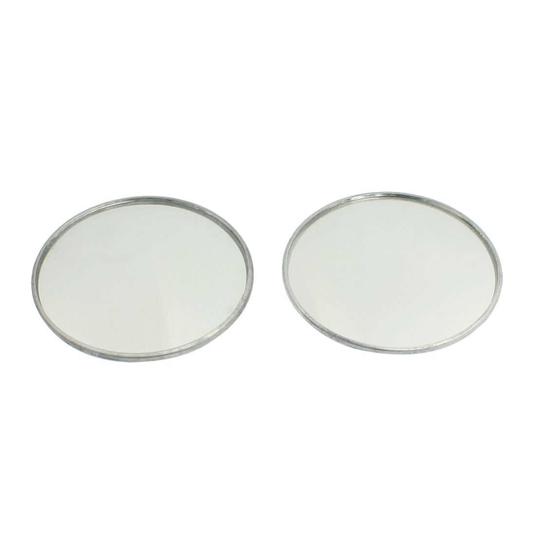 SODIAL(R) 2 x 1.9' Dia Round Metal Casing Convex Car Side Rearview Blind Spot Mirror
