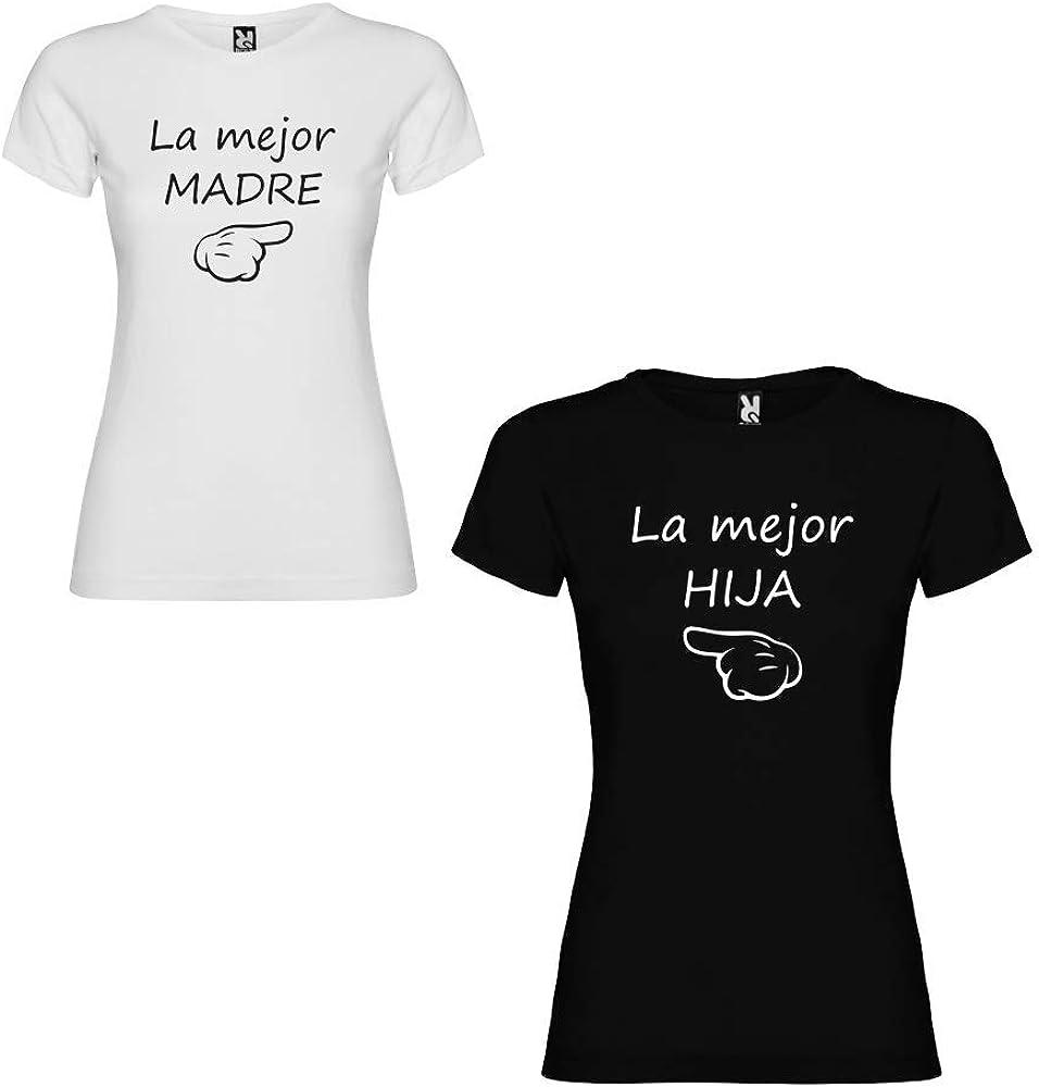 Dalim Pack de 2 Camisetas para niña y Mujer La Mejor Madre y La Mejor Hija (Niña 1/2 años + Mujer S): Amazon.es: Ropa y accesorios