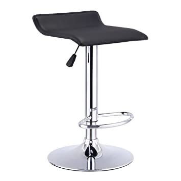 Marvelous Costway Swivel Bar Stools Adjustable Pu Leather Backless Dining Counter Chair Black Theyellowbook Wood Chair Design Ideas Theyellowbookinfo