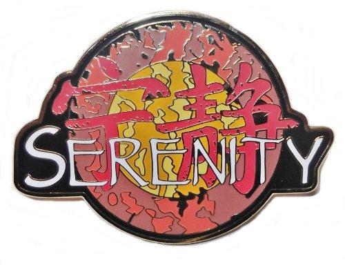 SERENITY Movie Name Chinese Logo Metal/Enamel 2 1/2