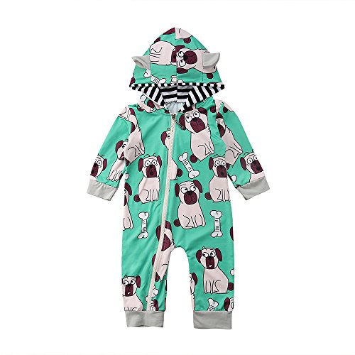 Lurryly Baby Boys Dog Romper Jumpsuit Clothes Bodysuit Plays