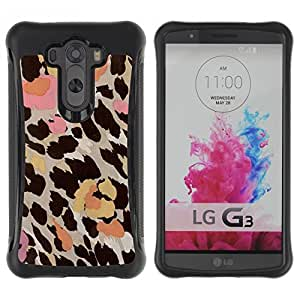 "Pulsar iFace Series Tpu silicona Carcasa Funda Case para LG G3 / D855 / D850 / D851 , Patrón Piel Flores en colores pastel abstracta"""