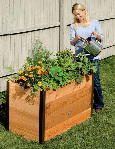 Gardener's Supply Company 2x4 Elevated Cedar Raised Bed (Window Supply Gardener's Boxes)