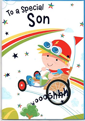 Especiales tarjeta de cumpleaños para hijo, libre de Go Kart ...