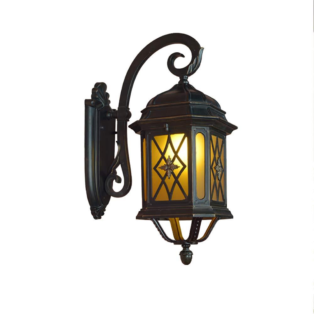 Europäische AußEnregen- Und Rost-Wandlampe Druckguss-Aluminium Balkon-Im Freiengarten-Licht, Schwarz