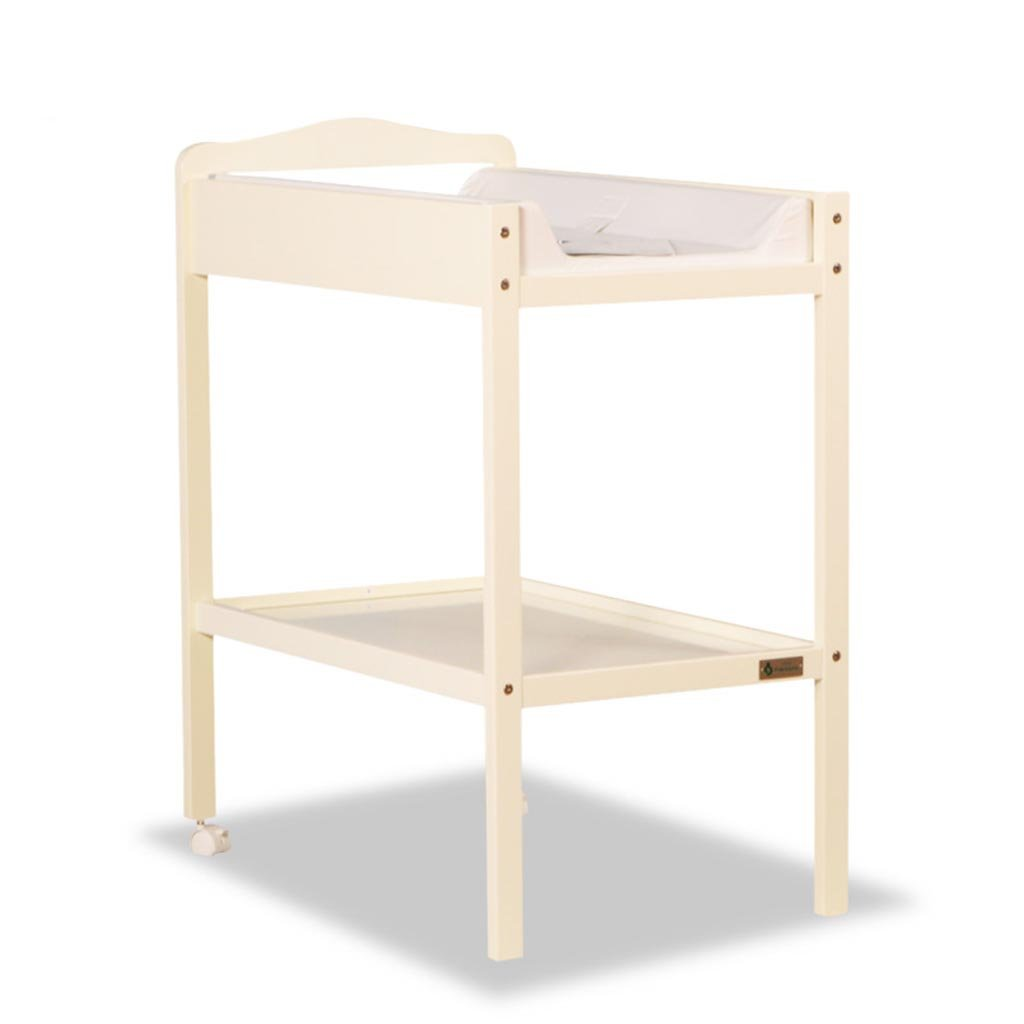 Changing Table YXGH@ Baby Diapers, Two Layers Baby Finishing Table, Removable Shower Stand, Pine Wood Baby, Load 15 Kg Changing Pads Table (Color : Milky White)
