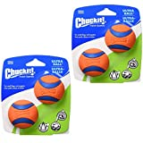 Chuckit! Dog Fetch Toy Ultra Ball Durable Rubber Fits Launcher Small 4 Balls