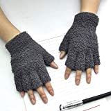 Putars Winter Gloves 1Pair [ Gloves Mitten Fingerless Fleece Half-Fingers Fuzzy -Unisex Adult Warm Winter ] - Outdoor/Cycling /Motorcycle/Hiking /Camping/Skiing/Riding (Acrylic)
