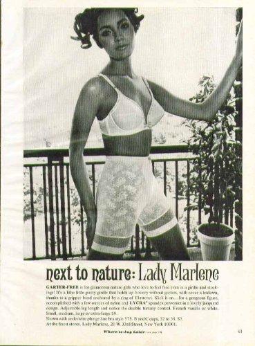 Line Girdle (Next to nature: Lady Marlene Garter-free Girdle & Plunge Line bra ad 1968)