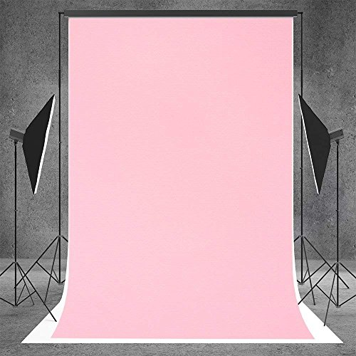 Kate 5x7ft Light Pink Photo Backdrops Birthday Photography Backdrop Studio Photo Shoot Background for Parties(with Pocket, After Ironing, The Effect is Better) ()