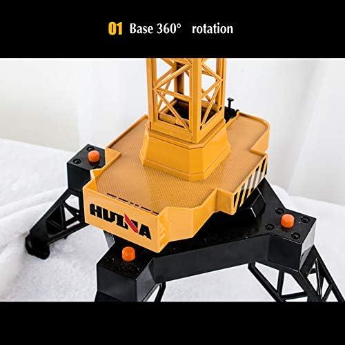 Jaune TTGE T/él/écommande /électrique M/éga Grue 125CM Alliage Haute Simulation Compl/ètement Fonctionnel Grue /à Tour Jouets Enfants
