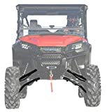"""SuperATV Heavy Duty 6"""" Lift Kit for Honda Pioneer 1000/1000-5 (2016+) - Black - Complete Kit with New Rhino Axles, Uniball and Studs, A arms, Tie Rods, and More!"""