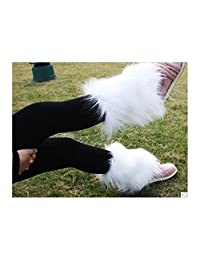 Fashion Boot Cuff Fluffy Soft Furry Faux Fur Leg Warmers Boot Toppers 20 Cm