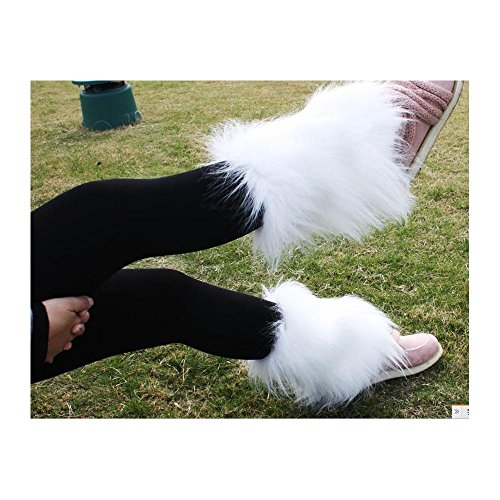 Fashion Boot Cuff Fluffy Soft Furry Faux Fur Leg Warmers Boot Toppers 20 Cm -