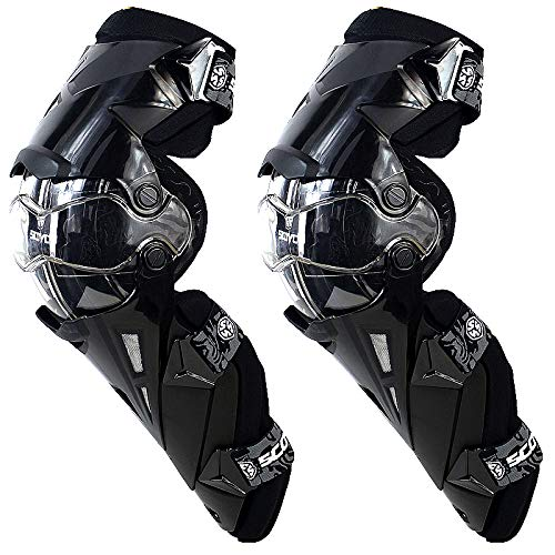 SCOYCO Motorcycle Knee Protector Guard Hard Collision Avoidance Off-Road Windproof for Outdoor Racing Cycling (Leg Armor Motorcycle)