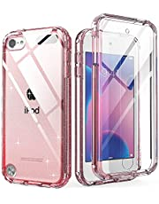 iPod Touch 7th Generation Case, IDweel Armor Shockproof Case Build in Screen Protector Heavy Duty Full Protection Shock Resistant Hybrid Rugged Cover for Apple iPod Touch 5/6/7th, Pink Glitter