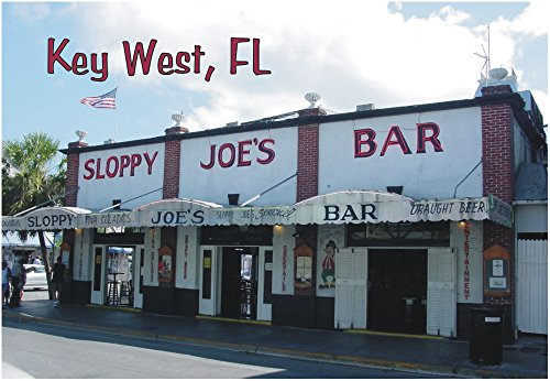 (Sloppy Joe's Bar, Key West, Florida, FL, Souvenir Magnet 2 x 3 Fridge Magnet)