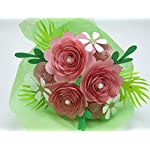 Pink-Rose-Paper-Flower-Bouquet-Valentines-Day-Gift-Idea-Modern-Roses-and-Daisies-on-Stems-Set-of-15-Floral-Picks