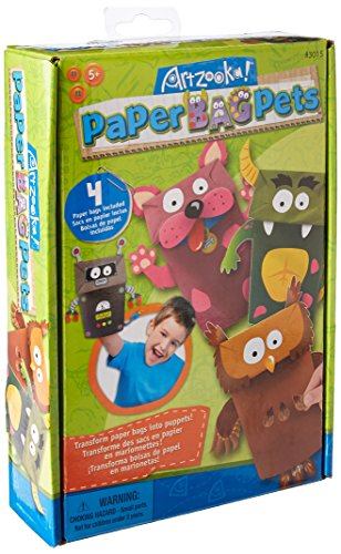 Kits S Puppet - Style Me Up - DIY Paper Bag Pets - Kids Craft Kit - SMU-3015