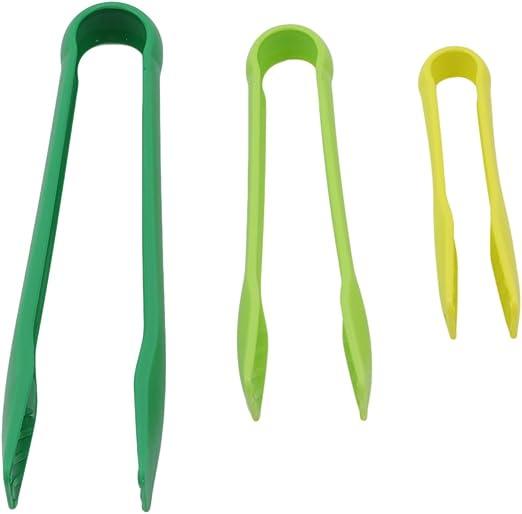 Plastic Food Tong BBQ Tongs Anti-slip Salad Clamp Bread Serving Clamps Utensils