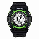 Andoer Multi-function Waterproof Sports Watch - Altimeter- Compass- Stopwatch -Barometer -Pedometer For Outdoor Sports