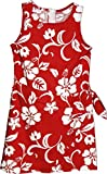 RJC Brand Hibiscus Pareo Girl's Hawaiian Sarong Dress Red 14
