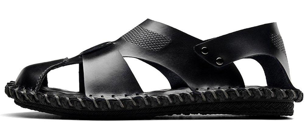 Scennek - Sandalias con Cuña de Otra Piel Hombre 41.5 EU|Leather Black