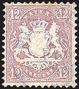Goldhahn Bayern Nr. 26 gestempelt Briefmarken für Sammler