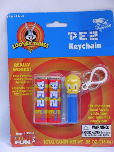 Looney Tunes Tweety Bird Pez Keychain 2000 ()