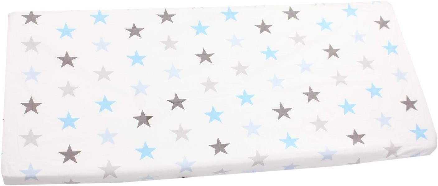 70 x 140 cm Stars Yellow//Gray TupTam Baby Bed Crib Cot Fitted Sheets with Printed Designs
