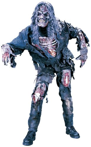 FunWorld Young Men's Teen Complete 3D Zombie, Grey, Junior 0-9 Costume