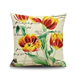 18*18 Beautiful Flower Stamp Bedroom Pillowcase Sofa Chair - Best Reviews Guide