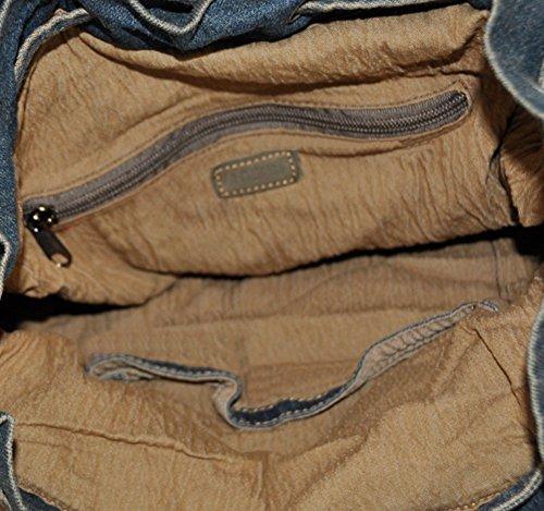 Genda 2Archer Vintage Ocio Bolso Denim Bolsa de Playa Para los Hombres